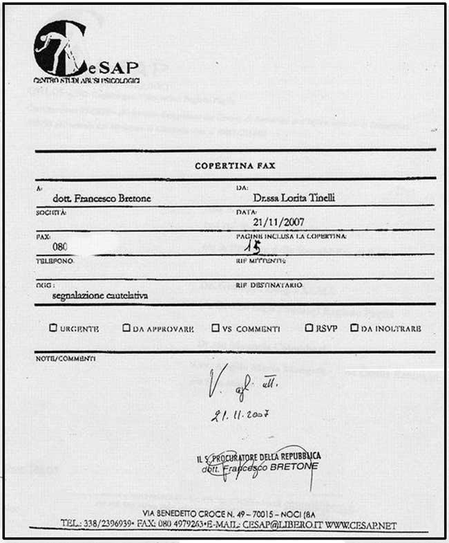 copertina fax cesap