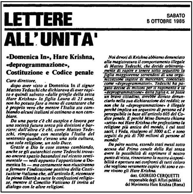 Lettere all'Unità