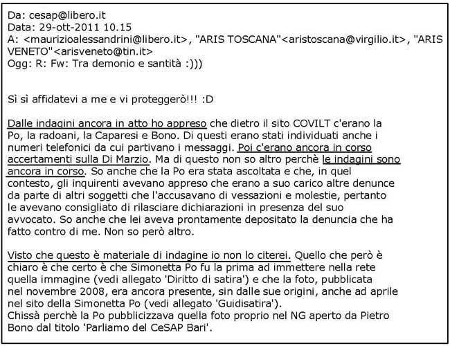 email Tinelli indagini