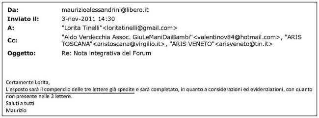 email esposto Alessandrini