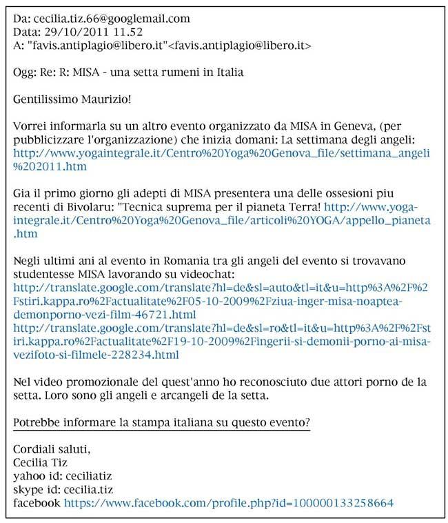 testo email Tiz-Alessandrini