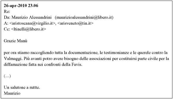 email replica Alessandrini