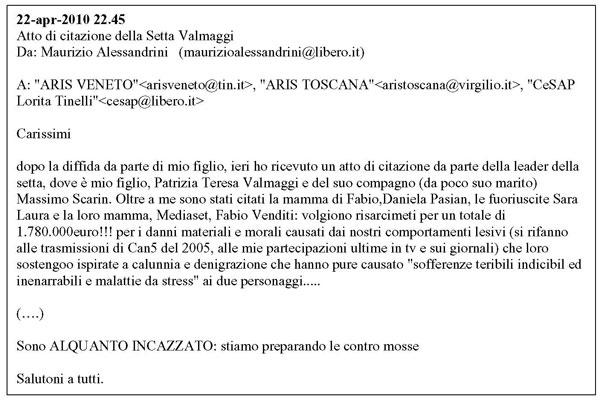 email Alessandrini a membri Forum