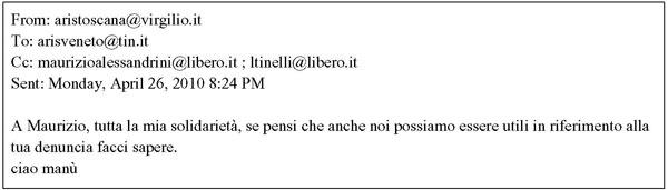 email ARIS Toscana