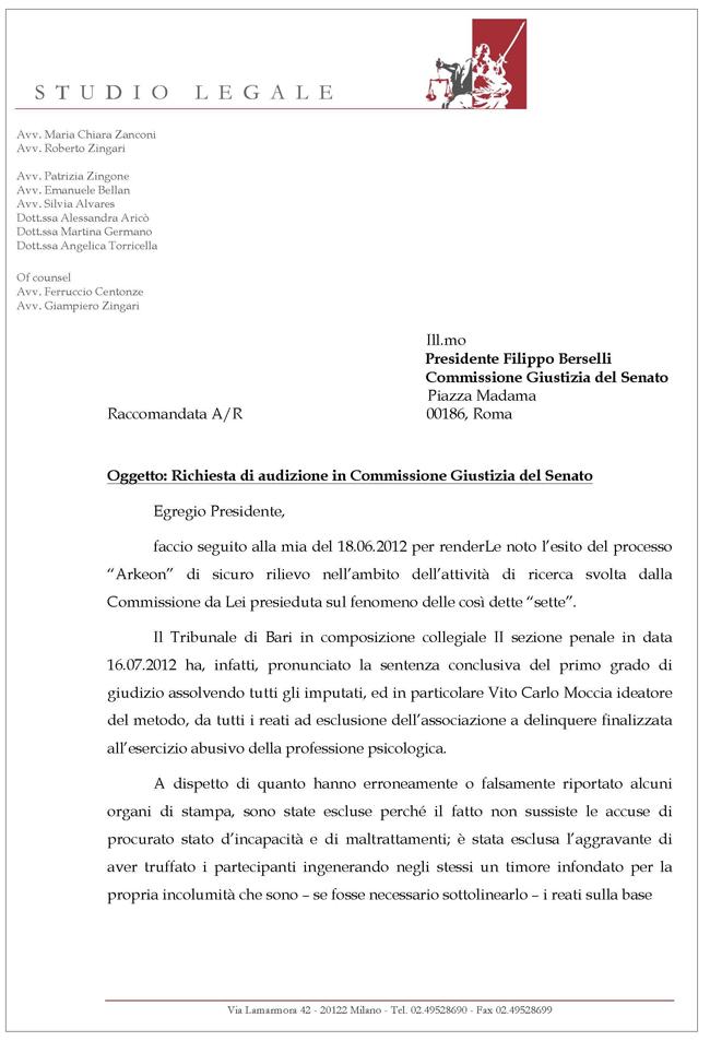 Lettera 2 Arkeon-Zanconi pagina 1