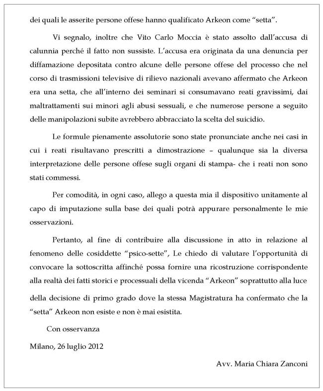 Lettera 2 Arkeon-Zanconi pagina 2