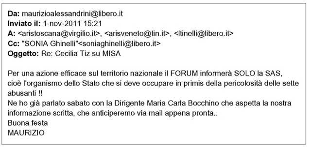 email Alessandrini - Bocchino