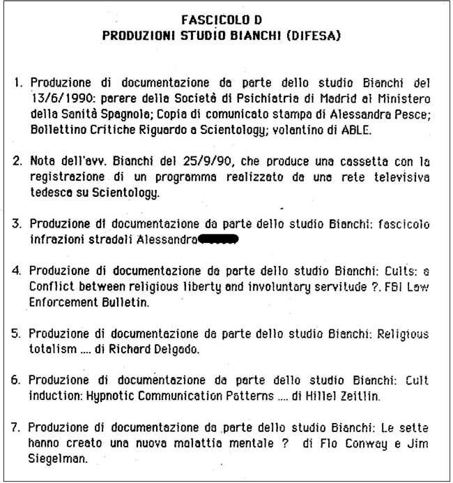 produzione Avv. Bianchi