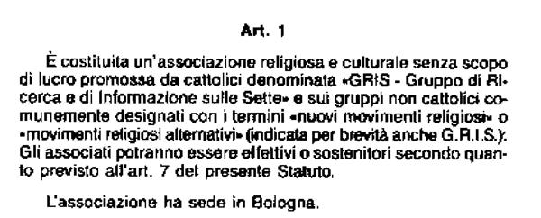 Statuto-GRIS87-art1